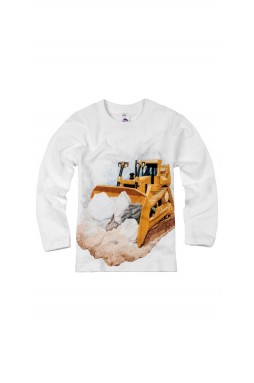 Little Boys Long Sleeve Bulldozer