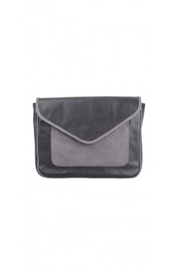 Calvi Rich Black and Charcoal Crossbody