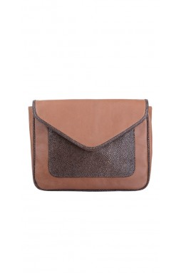 Calvi Rich Brown and Embossed Stingray Crossbody