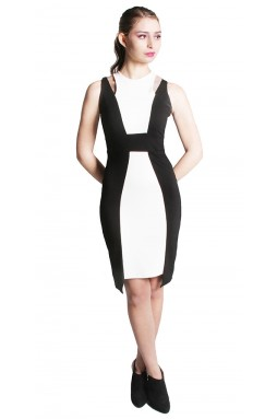 Cleo Dress - Black and White