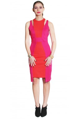 Cleo Dress - Pink and Orange