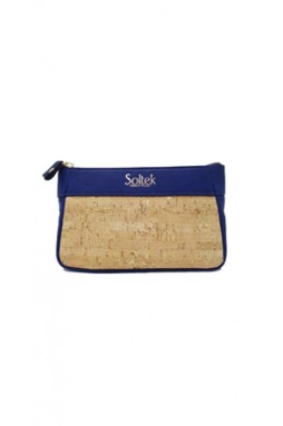 Corte Royal Blue and Cork Handbag