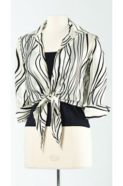 Wave Woman Printed Silk Shirt