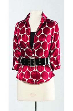 Grace Polka  Silk Printed Shirt