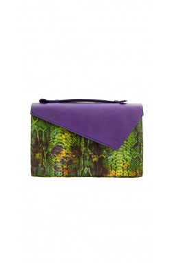 Lautrec Ochre and Charcoal Clutch