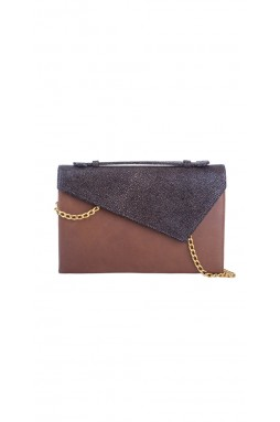 Lautrec Embossed Stingray and Brown clutch